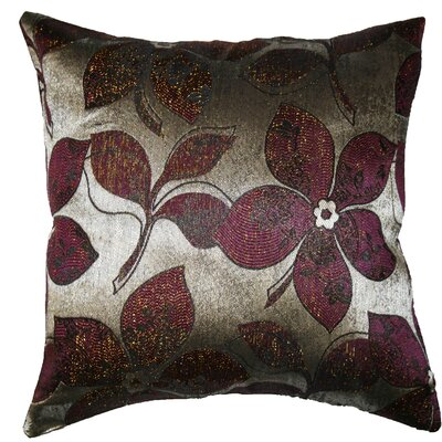 Essex Pillow Cover Color: Brown / Silver