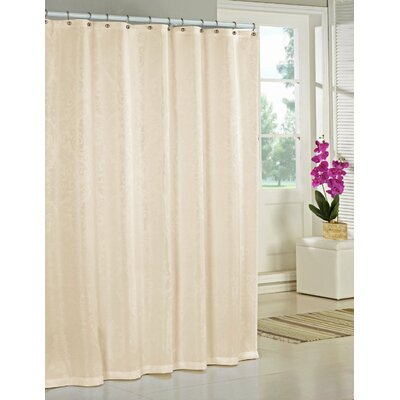 Nunzio Jacquard Shower Curtain Color: Champagne