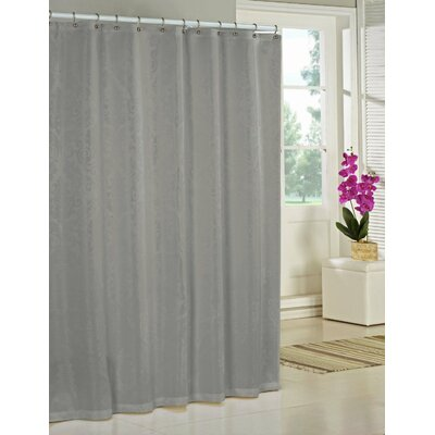 Nunzio Jacquard Shower Curtain Color: Silver