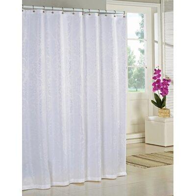 Nunzio Jacquard Shower Curtain Color: White