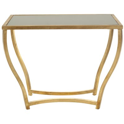 Ealing Console Table Finish: Black/Gold