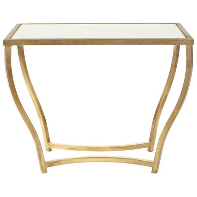Ealing End Table Color: White/ Gold