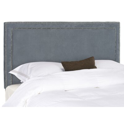 Ginger Upholstered Panel Headboard Upholstery: Grey, Size: Queen