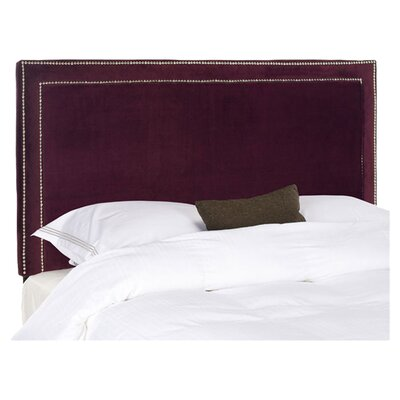 Ginger Upholstered Panel Headboard Upholstery: Bordeaux, Size: Queen