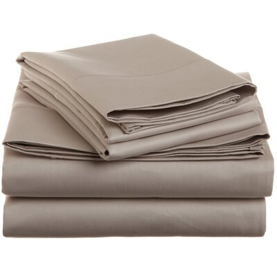 Covertt 1500 Thread Count 100% Cotton Sheet Set Color: Stone, Size: Queen