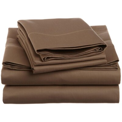 Covertt 1500 Thread Count 100% Cotton Sheet Set Color: Taupe, Size: Full