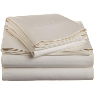 Covertt 1500 Thread Count 100% Cotton Sheet Set Color: Ivory, Size: California King