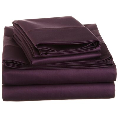 Covertt 1500 Thread Count 100% Cotton Sheet Set Color: Plum, Size: Full