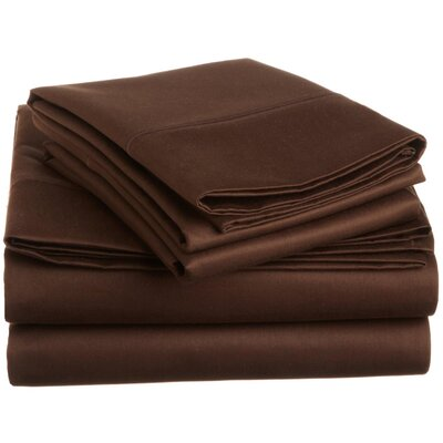 Covertt 1500 Thread Count 100% Cotton Sheet Set Size: California King, Color: Chocolate