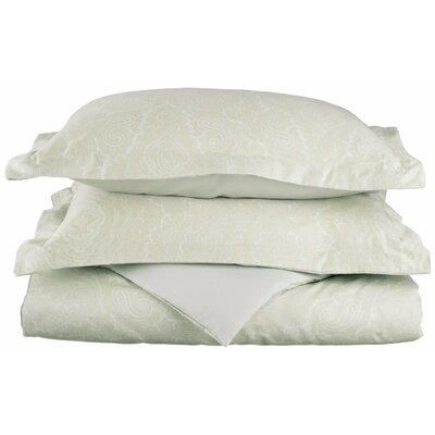 Benton Reversible Duvet Cover Set Color: White, Size: Twin