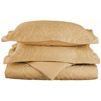 Benton Reversible Duvet Cover Set Size: King / California King, Color: Sand