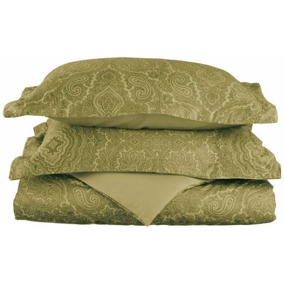 Benton Reversible Duvet Cover Set Color: Sage, Size: Twin