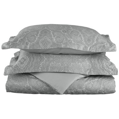 Benton Reversible Duvet Cover Set Color: Grey, Size: Twin