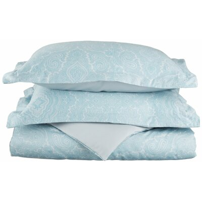 Benton Reversible Duvet Cover Set Size: Full / Queen, Color: Blue
