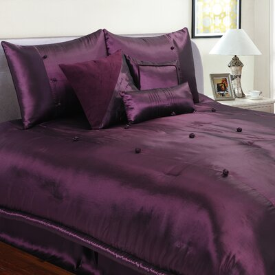 Stockton-on-Tees 7 Piece Comforter Set Size: Twin, Color: Eggplant