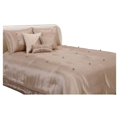 Stockton-on-Tees 7 Piece Comforter Set Color: Natural, Size: California King