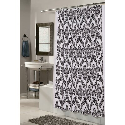 Marino Shower Curtain Color: White and Black