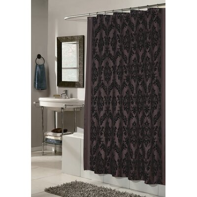 Bletchley Shower Curtain Color: Brown and Black
