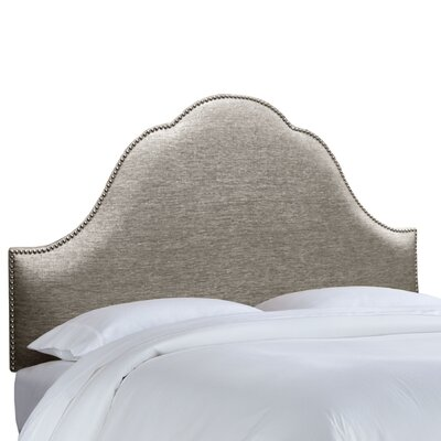Brighton Nail Button Upholstered Panel Headboard Size: Full, Upholstery: Groupie Pewter