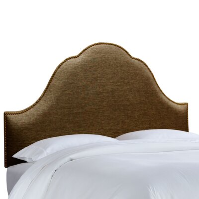 Brighton Nail Button Upholstered Panel Headboard Size: Twin, Upholstery: Groupie Praline