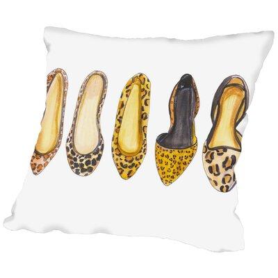 Alison B Leopard Line up Throw Pillow