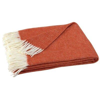 Houghton-le-Spring Herringbone Throw Blanket Color: Spicy Orange