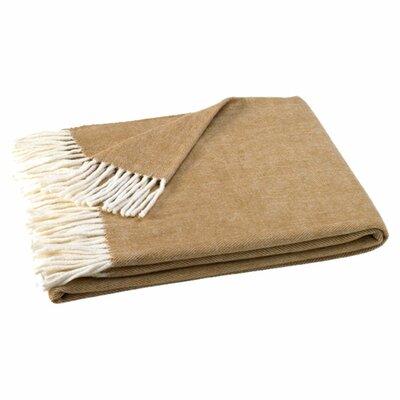 Kaya Herringbone Throw Blanket Color: Caramel