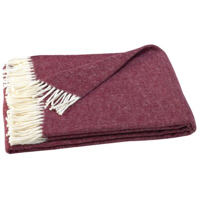 Kaya Herringbone Throw Blanket Color: Deep Merlot