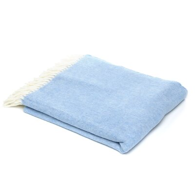 Kaya Herringbone Throw Blanket Color: Blue Denim