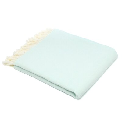 Kaya Herringbone Throw Blanket Color: Ice Blue