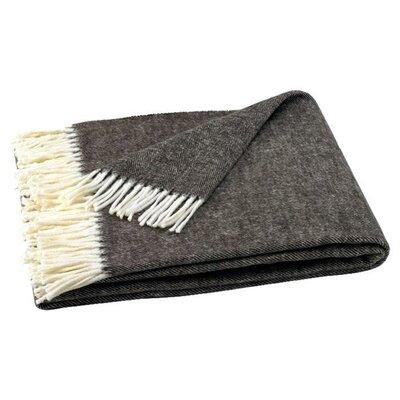 Kaya Herringbone Throw Blanket Color: Chestnut Brown