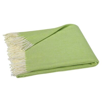 Houghton-le-Spring Herringbone Throw Blanket Color: Zesty Lime