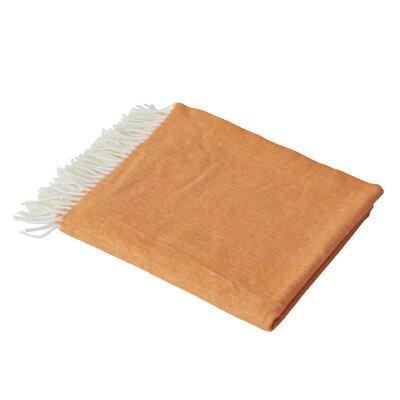 Kaya Herringbone Throw Blanket Color: Tangerine