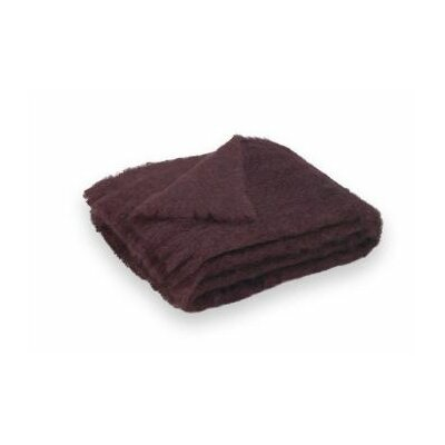 St Helens Brushed Mohair Throw Color: Mulberry