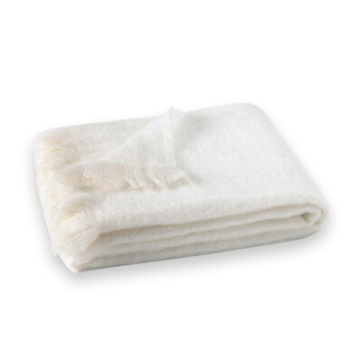 St Helens Brushed Mohair Throw Color: Snowflake