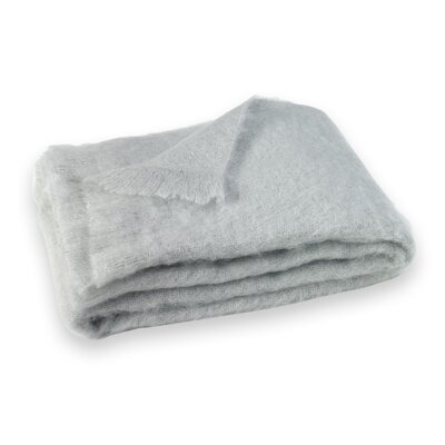St Helens Brushed Mohair Throw Color: Silver