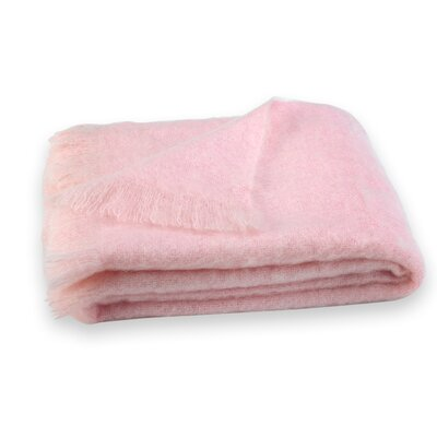 St Helens Brushed Mohair Throw Color: Cotton Candy