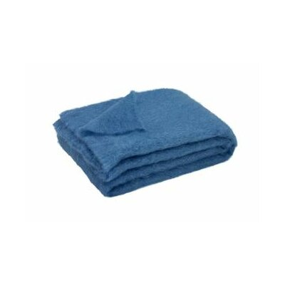 St Helens Brushed Mohair Throw Color: Lake Blue