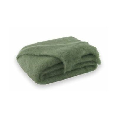 St Helens Brushed Mohair Throw Color: Olive Green