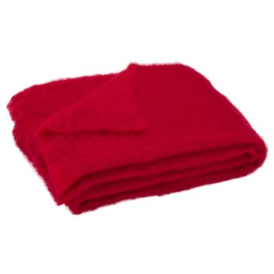 St Helens Brushed Mohair Throw Color: Scarlett