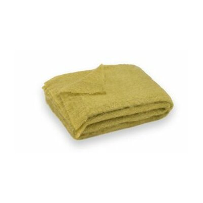 St Helens Brushed Mohair Throw Color: Mustard Seed