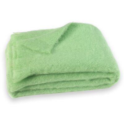 St Helens Brushed Mohair Throw Color: Pistachio Green