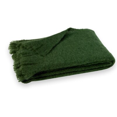 St Helens Brushed Mohair Throw Color: Pine