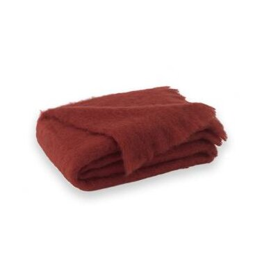 St Helens Brushed Mohair Throw Color: Russet