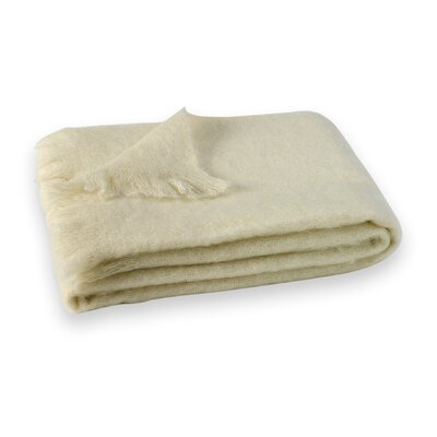 St Helens Brushed Mohair Throw Color: Cream HOHN3981 27476918