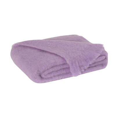 St Helens Brushed Mohair Throw Color: Lilac
