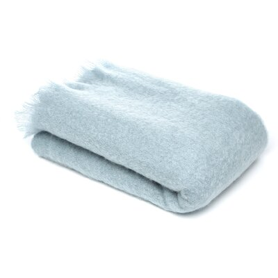 St Helens Brushed Mohair Throw Color: Glacier Blue