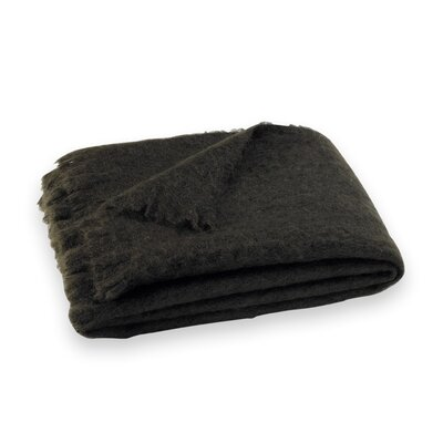 St Helens Brushed Mohair Throw Color: Dark Chocolate