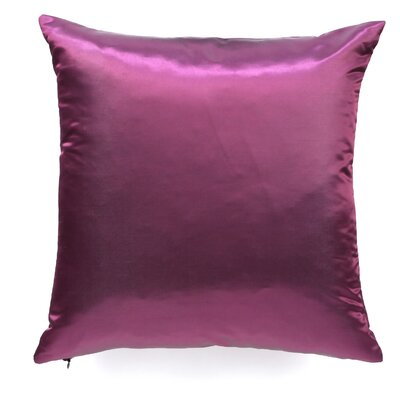Northampton Solid Silk Throw Pillow Size: 20 H x 20 W
