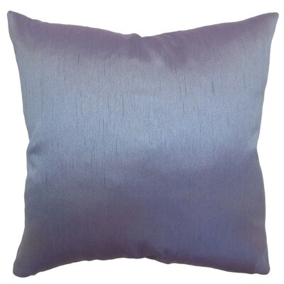 Northampton Solid Silk Throw Pillow Size: 18 H  x 18 W
